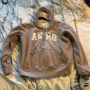 Brown Aeropostale Hoodie w/ Zipper & Pockets